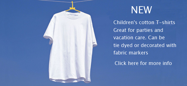 Children's white T-shirts