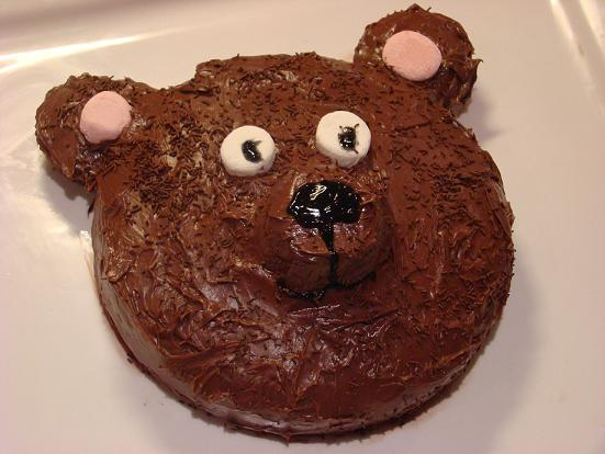teddy bear party cake