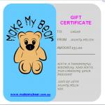 Bear gift voucher
